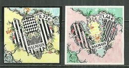 FRANCE MNH ** Adhésif Autocollant 1372-1373 Saint Valentin Coeur Balmain - Adhesive Stamps