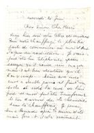 Lettre Manuscrite Simone Pierre Toret Bardy Bhunoy - Manuscrits