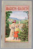 Baden Baden (Allemagne) 1917 (M0311) - Dépliants Touristiques
