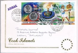 Cook Islands, 1988, FDC For Lisboa - Cook
