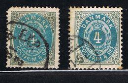 D3 - Danemark - Danmark -  YT 23 Et 23a - 4o  Gris Et Bleu - - Usati