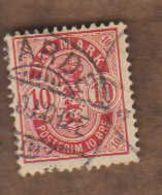 DANEMARK  (Y&T) 1882/95 -.n°36   **      10* Obli - Usati