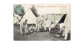 Cpa - 25 - PONTARLIER - Au Camp Des Pareuses - 5 Heures Du Matin - Tente Soldat Bonnet De Nuit Pot De Chambre Bouteille - Pontarlier