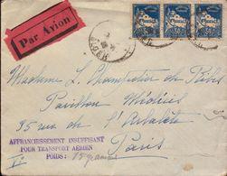 Lettre D Algerie, Alger Section Avion Pour Paris, Affranchissement Insuffisant Pour Transport Aerien, 1930    (bon Etat) - 1921-1960: Moderne