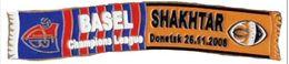 """Badge Pin: UEFA Champions League 2008-09  """" FC Basel 1893 """" Switzerland -  Shakhtar Donetsk Ukraine - Football"""
