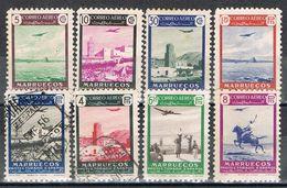 Serie Completa Aerea MARRUECOS, Colonia Española 1949, Edifil Num 297-304 */º - Maroc Espagnol