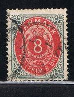 D3 - Danemark - Danmark -  YT 24 - 8 O  Gris Et Rouge - - Usati