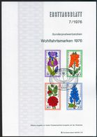 Berlin - 1976 ETB 07/1976 - Mi 524 / 527 - Gartenblumen, Wohlfahrtsmarken 76 - FDC: Hojas