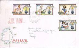 Niue, 1987, FDC For Lisboa - Niue
