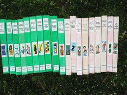 Lot De 19 Livres De La Bibliothèque Verte Et Rose Des Années 1965 - Bücher, Zeitschriften, Comics