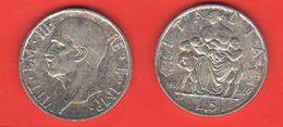 5 Lire Famiglia 1936 Silver Coin Rè Vittorio E. III° Regno Italia - 1900-1946 : Victor Emmanuel III & Umberto II