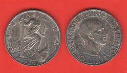 10 Lire Impero 1936 Silver Coin Rè Vittorio E. III° Regno Italia - 1900-1946 : Victor Emmanuel III & Umberto II