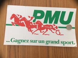 Grand AUTOCOLLANT, Sticker «PMU - Gagnez Sur Un Grand Sport» - Stickers