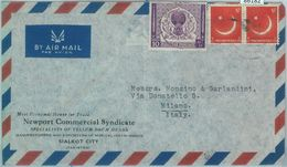 86182 - PAKISTAN - POSTAL HISTORY -  Airmail  COVER To ITALY  1950's - Pakistan