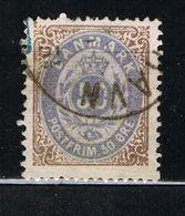 D3 - Danemark - Danmark -  YT 28 - 50 O Bistre Et Gris-violet - - Usati