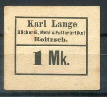 Notgeldwertmarke Aus ROITZSCH, Kreis BITTERFELD - 1 Mk. Von Bäckerei Lange - Acciones & Títulos