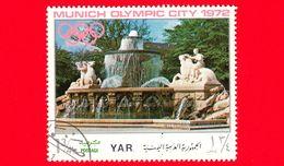 YEMEN - YAR - Nuovo Oblit. - 1970 - Olimpiadi - Costruzioni Nella Città Di Monaco - Fontana Di Wittelsbach - 1 ¾ - Yemen