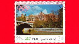 YEMEN - YAR - Nuovo Oblit. - 1970 - Olimpiadi - Costruzioni Nella Città Di Monaco - Maximilianeum - 2 ½ - Yemen