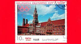 YEMEN - YAR - Nuovo Oblit. - 1970 - Olimpiadi - Costruzioni Nella Città Di Monaco - Municipio - City Hall - 10 - Yemen