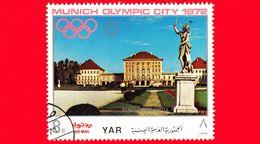 YEMEN - YAR - Nuovo Oblit. - 1970 - Olimpiadi - Costruzioni Nella Città Di Monaco - Palazzo Di Nymphenburg - 8 - Yemen