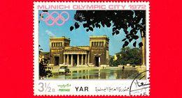 YEMEN - YAR - Nuovo Oblit. - 1970 - Olimpiadi - Costruzioni Nella Città Di Monaco - Propileo A Kingsplace - 3 ½ - Yemen