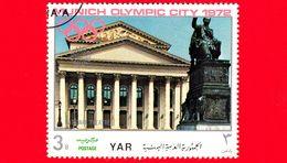 YEMEN - YAR - Nuovo Oblit. - 1970 - Olimpiadi - Costruzioni Nella Città Di Monaco - Teatro Nazionale - 3 B - Yemen