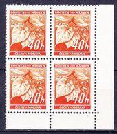 Boheme Et Moravie 1940 Mi 38 (Yv 42), (MNH)** Bloc De 4-coin De Feuille - Bohême & Moravie