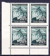 Boheme Et Moravie 1940 Mi 55 (Yv 43), (MNH)** Bloc De 4-coin De Feuille - Bohême & Moravie