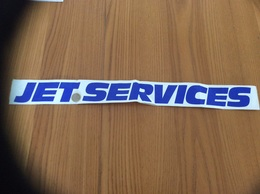 Grand AUTOCOLLANT, Sticker «JET SERVICES» (transport) - Stickers
