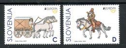 3333 Slowenien Slovenia 2020 ** MNH Seria Europa CEPT Ancient Postal Routes Historische Postwege Animal Horse Pferd - Slovenia