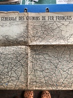 Carte Des Chemins De Fer Français - Cartes