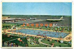 Postcard Airport Planes And Swimming Pool Aeropuerto Internacional Ezeiza Argentina - Argentine
