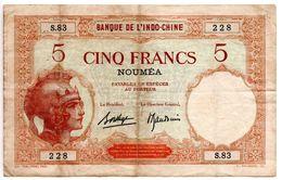 Nouméa / 5 Francs /  Etat TB - Nouméa (Nuova Caledonia 1873-1985)