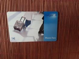Phone Pass Promo 1 Euro (Mint,Neuve) Rare - Belgique