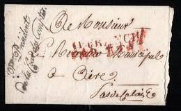 Cachets : Affranchi Par L'état En Rouge / Président De La Cour Des Comptes En Noir Pour Aire Pas De Calais - 1801-1848: Précurseurs XIX
