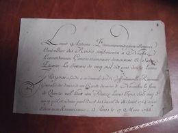 Lettre De Change, 1765, Louis Antoine Fimmoneau,Tignonvilleneuve, Controlleur Des Rentes - Bills Of Exchange