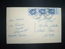 CP MERDRIGNAC (22) TP SAINTONGE 5F Bande De 3 OBL. Tiretée 15-7 1957 ILLIFAUT COTES DU NORD (22) - Marcophilie (Lettres)