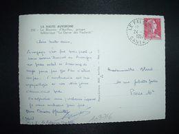 CP LA BOURREE D'AURILLAC TP M. DE MULLER 15F OBL. Tiretée 24-12 1957 LE FALGOUX CANTAL (15) - Marcophilie (Lettres)