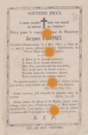 Dommartin Saint-Georges-sur-Meuse 1862 Décès De Jacques Pironnet Enfant De 12 Ans Imprimé à Huy / RARE - Obituary Notices