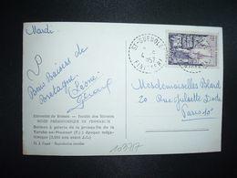 CP MUSEE PREHISTORIQUE DE PENMARC'H TP QUIMPER 12F OBL. Tiretée 4-9 1957 ST GUENOLE FINISTERE (29) - Marcophilie (Lettres)