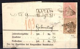 Suisse Belle Lettre De 1856, Affranchissement Double. B/TB. Certificat Sorani. A Saisir! - 1854-1862 Helvetia (Imperforates)