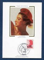 France - Carte Maximum - Eugène Delacroix - Marianne - 1988 - 1980-89