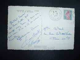 CP BAS EVETTE TP SEMEUSE 0,20 OBL. Tiretée 5-6 1963 EVETTE TERre DE BELFORT (90) - Marcophilie (Lettres)