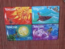 4 Phonecards New Zealand Used Rare - New Zealand