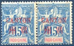 Canton N°7 Paire Neuve* - (F1838) - Unused Stamps