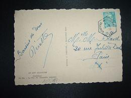 CP LE PAS DU CROCODILE TP M. DE GANDON 8F OBL. HEXAGONALE 14-8 1951 GOUFFRE DE PADIRAC LOT (46) - Marcophilie (Lettres)