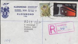 3528   Carta Certificada Kleinmond  1978, Sud África, - South Africa (1961-...)