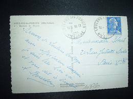 CP MAISON DE REPOS TP M. DE MULLER 20F OBL. HOROPLAN 19-11 1959 LOUHANS LES FORGES HTE SAONE (70) - Marcophilie (Lettres)