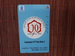 Phonecard Indonesia Jakarta 1992 Used Rare - Indonésie