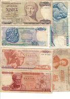 Greece Lot 6 Banknotes - Grèce